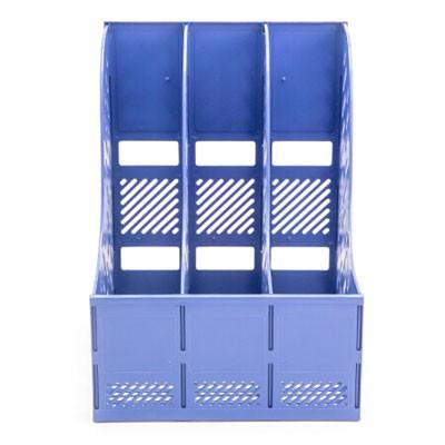 晨光ADMN4008稳固型三联文件框单个装蓝色