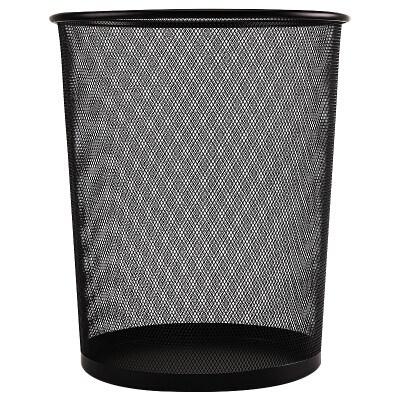 晨光295mm大号黑色稳固金属丝网垃圾桶单个装ALJ99427