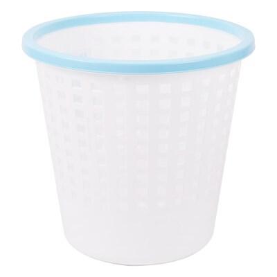 晨光290mm大号白色带压圈式塑料垃圾桶单个装ALJ99421