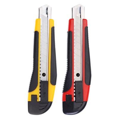 晨光SS91315自动锁大号美工刀18mm内含2个刀片多色单把装