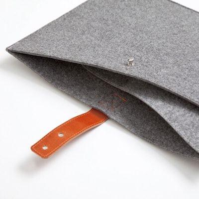 齐心A5203毛毡材质多面夹层文件袋/收纳袋灰
