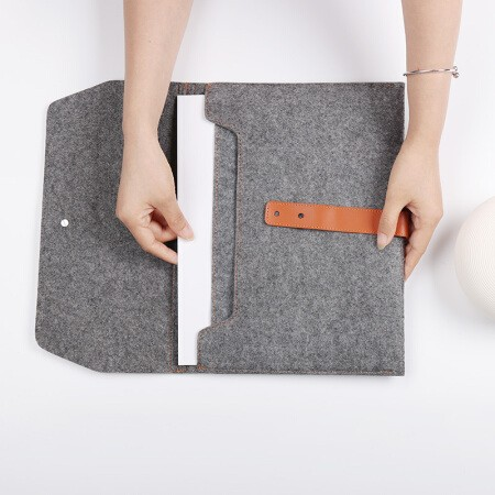 齐心A5204多面夹层可分类存放文件袋/收纳袋A4灰