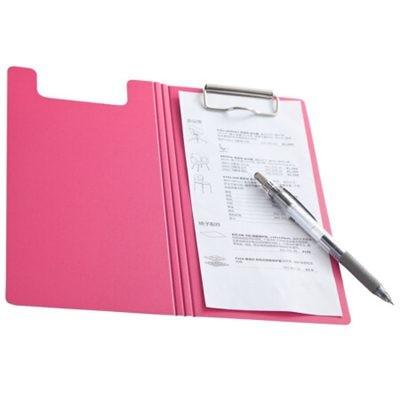 齐心A5306央格系列文件夹/票据夹双折式板夹红色