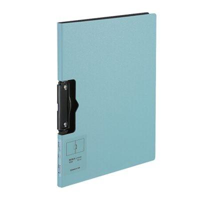 齐心A4简约横式折页板夹实用会议文件夹A5328蓝