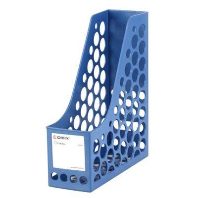 齐心A1083环保单格文件栏/文件框/文件架蓝色