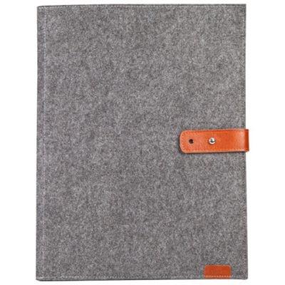 齐心A5206毛毡个性化二折式办公文件套/资料套A3/A4通用灰