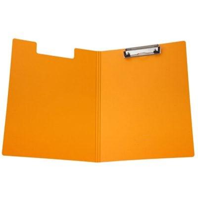 齐心A5305央格系列文件夹A4双折式板夹橙色