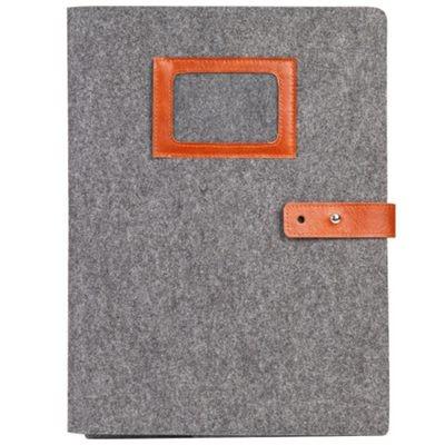 齐心A5209毛毡简易便携文件套/事物包/收纳袋灰