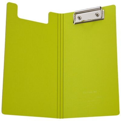 齐心A5306央格系列文件夹/票据夹双折式板夹绿色
