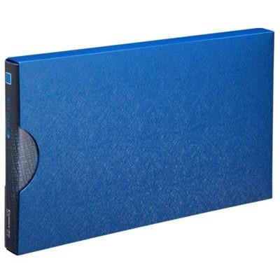 齐心A611美石系增值税发票夹/票据夹配外壳钛蓝