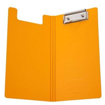 齐心A5306央格系列文件夹/票据夹双折式板夹橙色