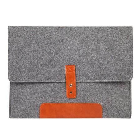 齐心A5205毛毡柔软材质多功能办公便携包/收纳包灰