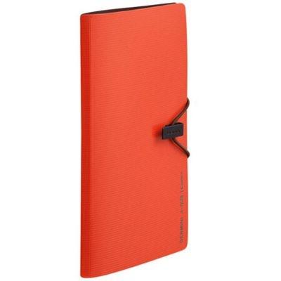 齐心A7628便携式名片册/卡片册30枚橙色