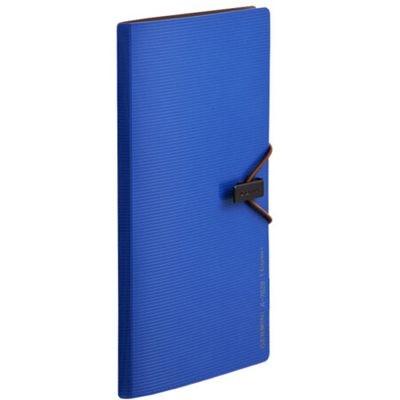 齐心A7628便携式名片册/卡片册30枚蓝色