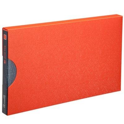 齐心A611美石系增值税发票夹/票据夹配外壳橘红