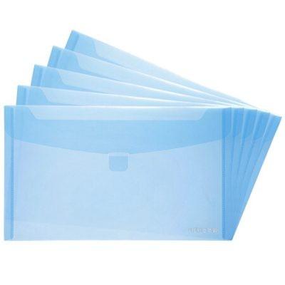 齐心A1768增值税发票袋/发票套/文件袋浅蓝