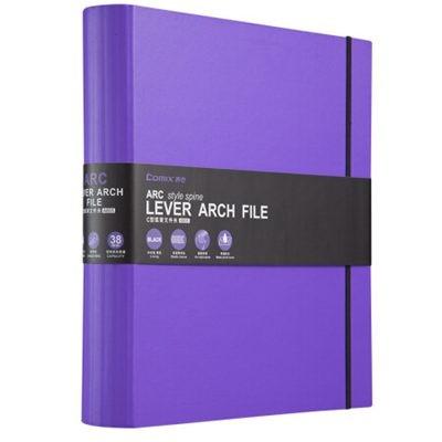 齐心A42寸ARC弧型脊背快劳夹/文件夹A805紫