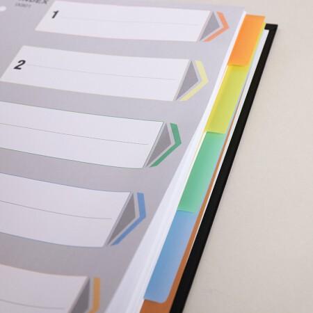 齐心IX901易分类分页标签隔页11孔A4索引纸五色