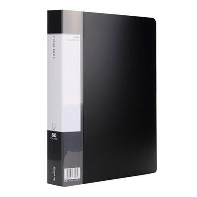 齐心PF60AK 60页A4资料册/文件页/文件夹黑色