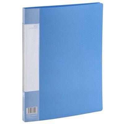 齐心PF30AK 30页A4资料册/文件页/文件夹蓝色