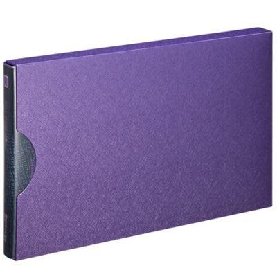 齐心A611美石系增值税发票夹/票据夹配外壳珠紫