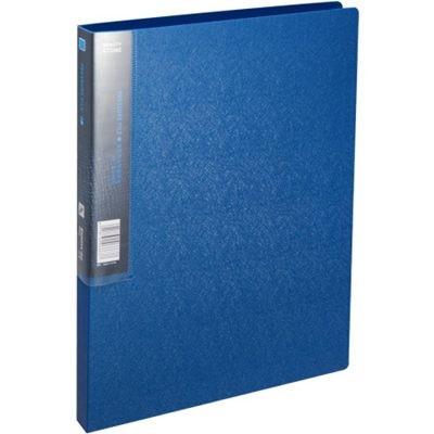 齐心A623美石系单长押夹/文件夹/轻便夹A4钛蓝