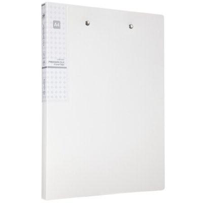 齐心A613抗菌系列双强力夹/文件夹/轻便夹A4银白