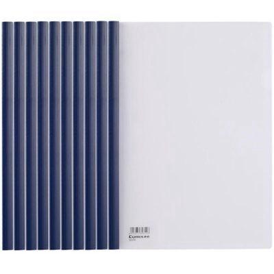 齐心Q310-1 A4抽杆夹/文件夹/报告夹10个装蓝色