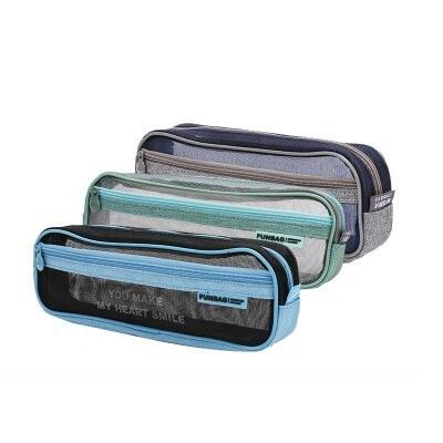 晨光APBN3458笔袋大容量加长型灰色单个装