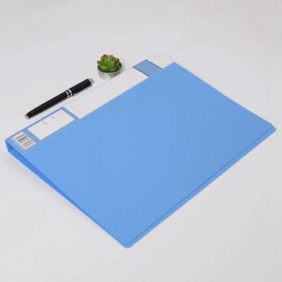 齐心EA656文件夹A4长押夹+板夹蓝色