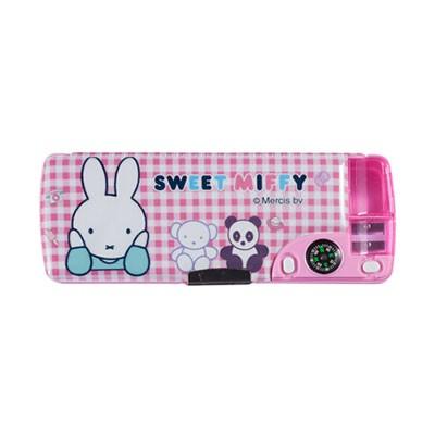 晨光FSB90299粉色多功能双层笔盒单个装