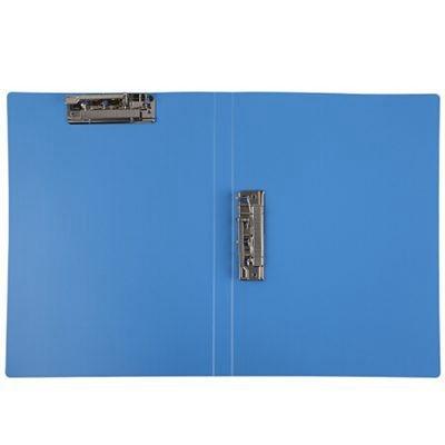 齐心EA63双强力夹A4文件夹蓝色单个装