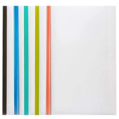齐心A856抽杆夹/A4报告夹/文件夹5个装彩色