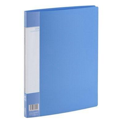 齐心PF20AK 20页A4资料册/文件夹蓝色