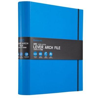齐心A42寸ARC弧型脊背快劳夹/文件夹A805蓝