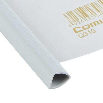 齐心A4Q310强力加厚型抽杆夹/文件夹/报告夹10个装白色