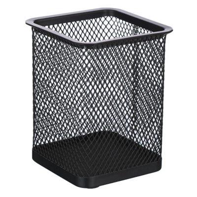 晨光ABT98402方形金属网格笔筒黑色单个装