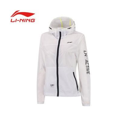 李宁女款运动风衣外套AFDP224-1标准白XXL