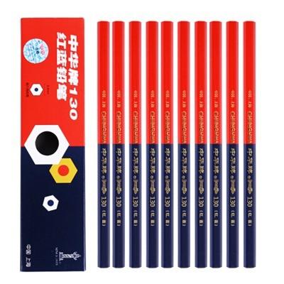 中华130红蓝双色铅笔 单只装