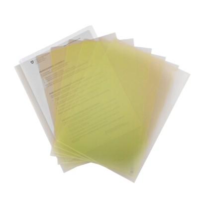 富得快A4文件夹/文件套E310黄色单个装310*220mm