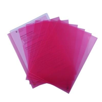 富得快A4文件夹/文件套E310红色单个装310*220mm