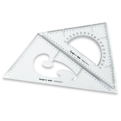 广博CB5635直角三角尺子+等腰三角板含量角器2把装35CM