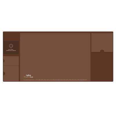 广博大号多功能收纳桌垫棕色NC2892