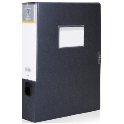 得力5606档案盒A4 55mm深灰色单只装