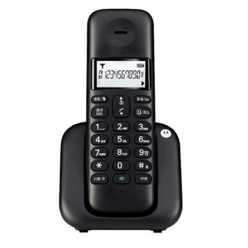 摩托罗拉T301C数字无绳电话机-大屏幕白色背光-黑色
