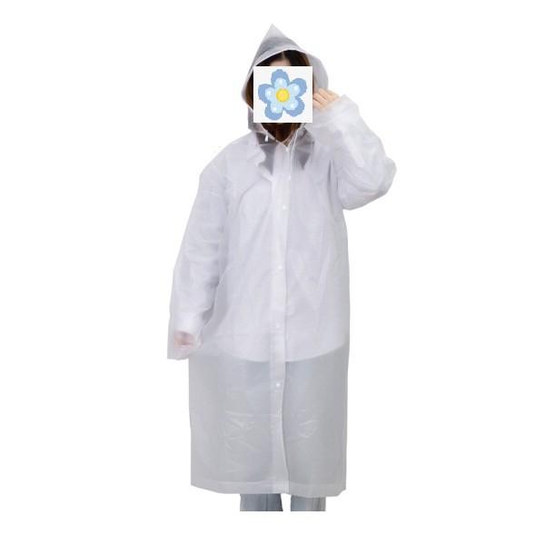 得力DL553010半透明带帽加厚防水雨披