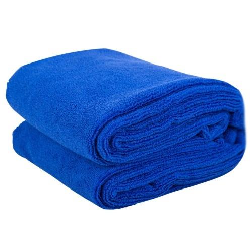 得力DL8076蓝色细纤维洗车毛巾160*60cm
