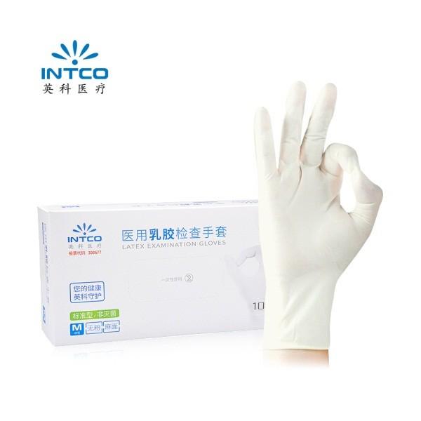 英科医疗一次性乳胶手套L码 100只/盒