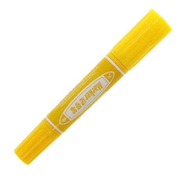 智牌ZP-805双头记号笔 黄色 10支/盒