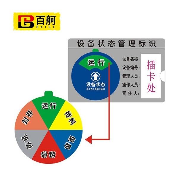 百舸ZA1885机器设备状态标识牌